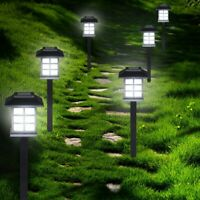 6PCS LED Solarlampe Gartenlampe Außenlampe Solarleuchte Beleuchtung Leuchte NEU