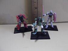 """#A448 Gundam Collection Vol.2 Mini 1.75""""in Figures 3 Gundams as Seen in Photos"""