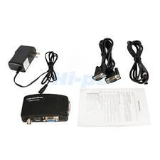 High Quality PDP VCD Webcam BNC S-Video to VGA PC Converter Box New US Free Ship
