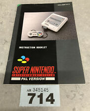 Super Nuntendo Snes Instruction Booklet