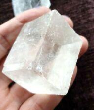 Lovely cuboid Iceland Spar crystal, (Optical Calcite)   35mm . Spiritual