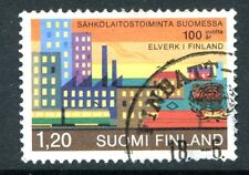 Finland Stamp Scott #666 Electric Power Plant Centenary 1982