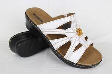 db7777fda58 New Clarks Women s Lexi Myrtle Slide Sandals Size 9.5 X-Wide White Leather
