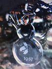 Vintage 1987 Orrefors Swedish Crystal Snowman Ornament