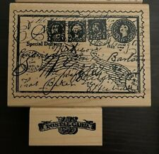 Limited Edition Club Scrap Postcard Rubber Stamp Set