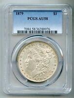 1879 Morgan Silver Dollar PCGS AU 58