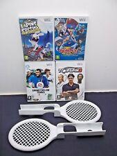 Lot de 4 Jeux Nintendo Wii 2 Raquettes / Beyblade Lapins Crétins + 2 Jeux Tennis