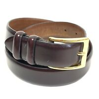 Cole Haan Whiskey Brown Belt Canada A93E7 Men's size 40 Gold Brass Buckle