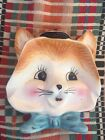 Vintage Cat Wall Plaque Made In Japan