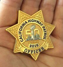 SUPER BOWL 50 NFL CHP CA HWY PATROL POLICE CHALLENGE COIN MANNING VON MILLER MVP