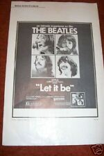 BEATLES   LET IT BE  pressbook  Original