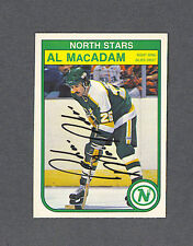 Al MacAdam signed North Stars 1982-83 Opee Chee hockey card
