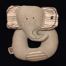 Natures plus pure gris éléphant hochet Safari Jouet Stripe Consolateur Peluche o...