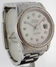 Rolex Datejust 16200 Steel Diamond Automatic Wrist Watch