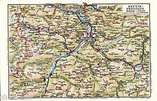Tannheim Schattwald Stanzach 1928 Karte + Reisef. (16 S.) Elmen Reutte Lermoos