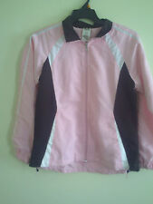Women's Athletic Works light weight  Pink Brown White  jacket-Size L