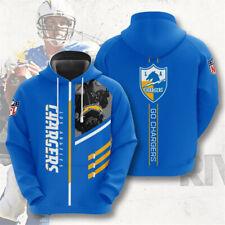Los Angeles Chargers Hoodie Football Pullover Hooded Sweatshirt 3D Sports Jacket