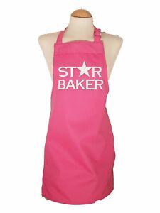 Small Adult / Teenage Pink Apron ** Personalised / printed 15 designs star baker