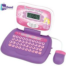Just Kidz Princess Laptop Music and Games Learning Questions Bday Gift NEW