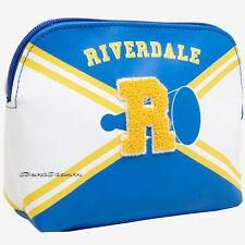 "Riverdale High School Varsity Cheer Cosmetic Makeup Bag Chenille ""R"" Hot Topic"