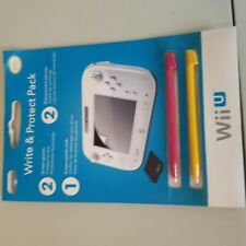 wii u tablet controller screen protector and stylus pack