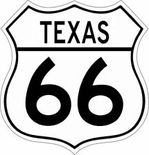 Texas Route 66 Vinyl Decal Sticker