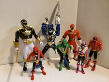 "(7) Mighty Morphin Power Rangers Action Figures 4 1/4"" - 6 1/2"""
