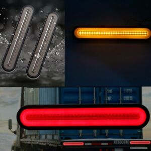 1X Flowing Turn Signal Brake Rear Stop Tail Light Halo Neon LED RV Trailer Truck