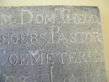 Antique bluestone memorial stone 1828 cemetery Belgium