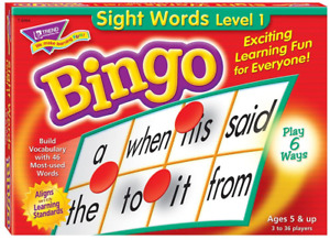 Sight Words Bingo - language building skill game for home or classroom ( NEW )