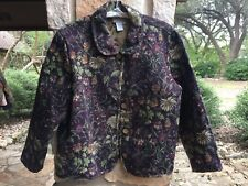 Coldwater Creek Womens Tapestry Floral Jacket - Size PXL