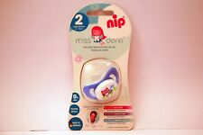 New NIP Miss Denti 5-13 Month Silicone Soothersz 2 (first teeth) Baby Dummy Blue