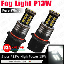 2PCS HID White 6000K P13W 15W LED Fog Driving DRL Day Light For Chevy Camaro 12V