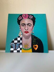 original acrylic painting on canvas Frida Kahlo by Cheryl Olver