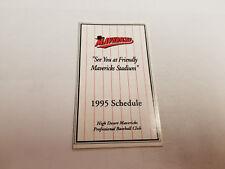 High Desert Mavericks 1995 Minor Baseball Pocket Schedule - Daily Press