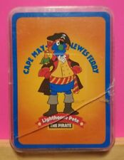 Vintage ~ Cape May Lewes Ferry Lighthouse Pete The Pirate Playing Card w/ Case