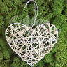 10cm WHITE RATTAN WIRE HEARTS - VALENTINE CHRISTMAS TREE CRAFT WREATH FLORIST