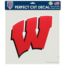 FANMATS NCAA Wisconsin Badgers Decal 8x8 Die Cut One Size Team Colors