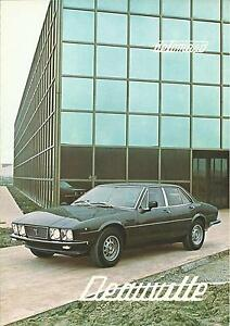 Detomaso Deauville Fold Out Brochure 1979 Multilingual In Mint Condition