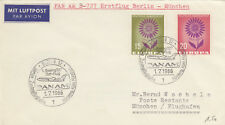 (14306) CLEARANCE Germany Cover Pan Am  Berlin - Munich 1 July 1966