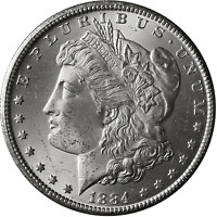 1884 -CC Morgan Silver Dollar Brilliant Uncirculated - BU