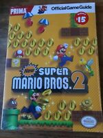 NEW SUPER MARIO BROS 2 OFFICIAL PRIMA GAME GUIDE NINTENDO DS BRAND NEW & SEALED