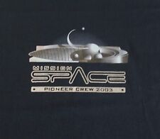 Mens Disney Epcot Mission Space Pioneer Crew 2003 Graphic T-Shirt Sz 2XL Black