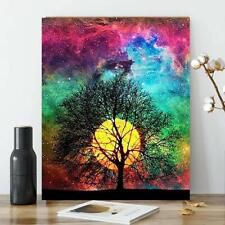 Karyees Full Moon Tree Diy Paint by Numbers Kits 20x16In Diy Oil Painting by by