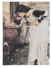 The Shrine John William Waterhouse Vtg Art Postcard 4X6 Le Tombeau Sepulcro