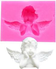 SILIKON 3D BACKFORM ENGEL 4 FONDANT TORTE AUSSTECHFORM DEKO GEBURTSTAG HOCHZEIT