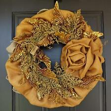 "22"" Wonderful Unique Handmade Wreath - Golden Wings"