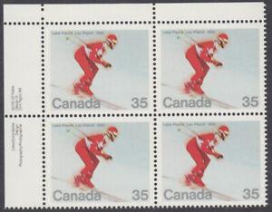 Canada - #848 Winter Olympics Plate Block - MNH