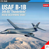 "Academy 1/144 USAF B-1B 34th BS ""Thunderbirds"" Hobby Plastic model kit #12620"