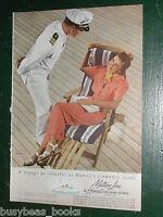 1939 Matson Lines advertisement, HAWAII, lady in deck chair, Anton Bruehl photo